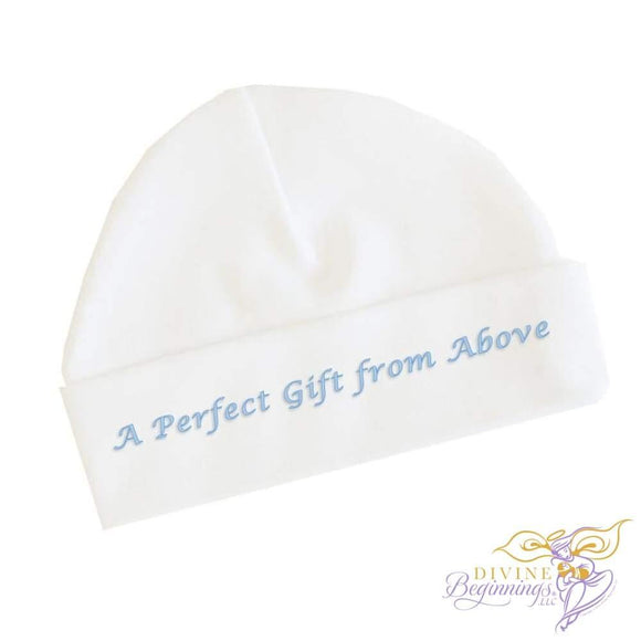 A Perfect Gift From Above - Boys Baby Beanie Cap (English) 0-3 Months Accessories