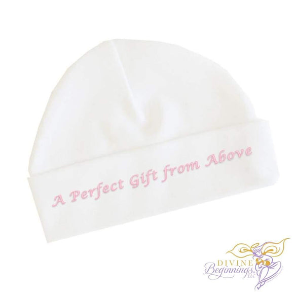 A Perfect Gift From Above - Girls Baby Beanie Cap (English) 0-3 Months Accessories