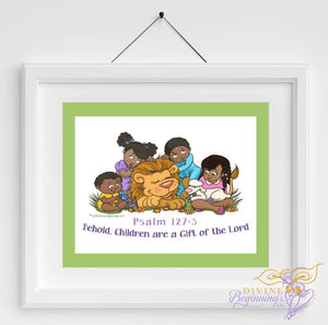 Behold, Children are a Gift - Christian Inspired Artwork - Divine Beginnings, LLC