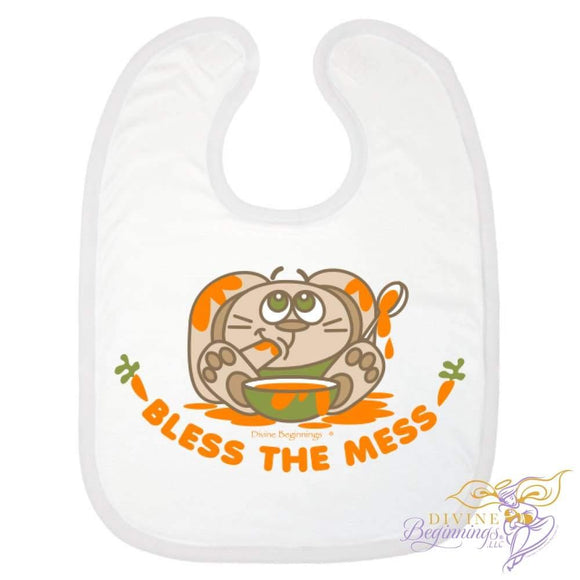 'Bless The Mess' (Bunny) Bib - Divine Beginnings, LLC