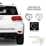 "DIVINE DECALS™ - ""Blessed"" Car Window Decals - Divine Beginnings, LLC"