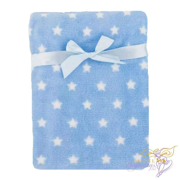 Blue Stars Fleece Blanket Accessories