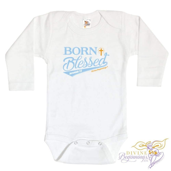 Born Blessed - Boys Infant Onesie 0-3 Months / Long-Sleeve Clothing
