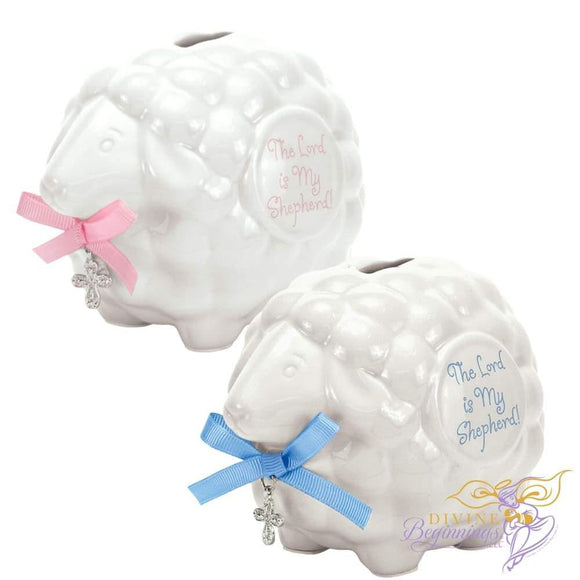 The Lord is My Shepherd Piggy Banks - Divine Beginnings, LLC