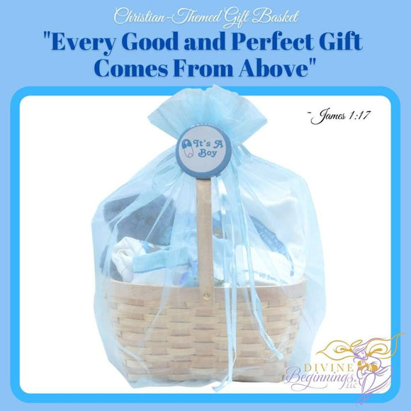 Christian-Themed Gift Basket - Every Good And Perfect Comes From Above For Boys Bundles