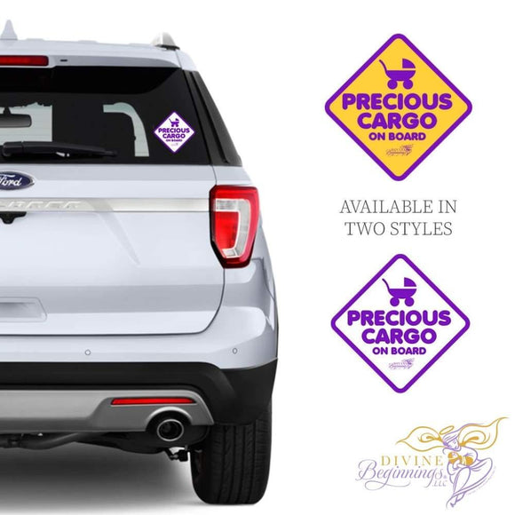 DIVINE DECALS™ - Precious Cargo Car Window Decal - Divine Beginnings, LLC
