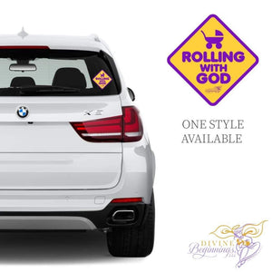 DIVINE DECALS™ - Rolling With God Car Window Decals - Divine Beginnings, LLC