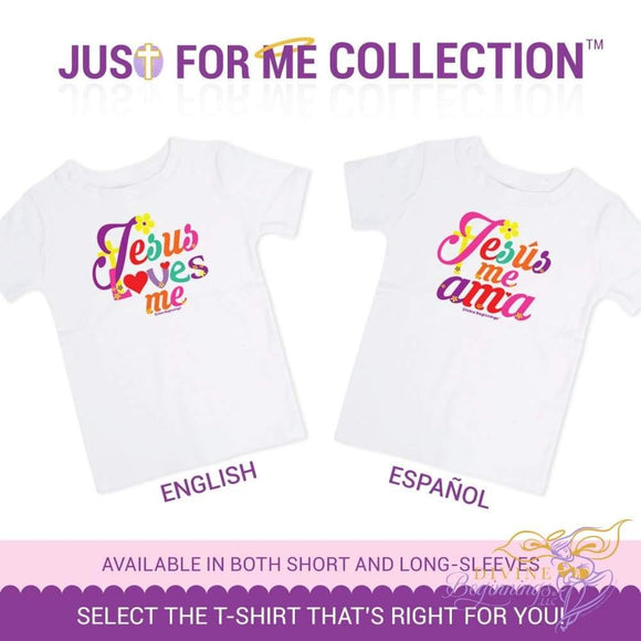 Colorful Girls Jesus Loves Me Toddler T-Shirt - available in English and Spanish versions