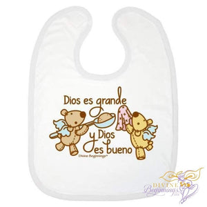 God Is Great Good Bib (Natural - En Español) One Size Accessories