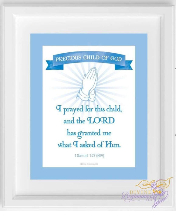 I Prayed For This Child Wall Art