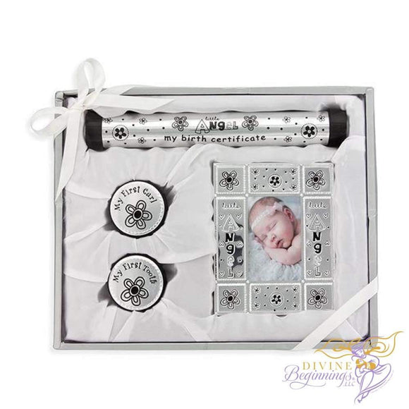 Little Angel Birth Certificate and Frame Set - Divine Beginnings, LLC