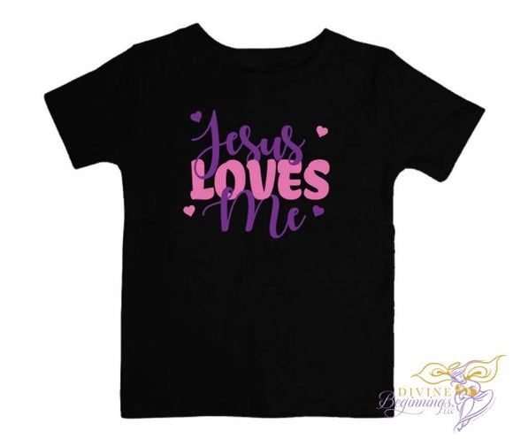 Toddler Christian T-Shirt - Jesus Loves Me Clothing