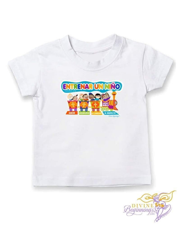 Train Up A Child - Toddler Short Sleeve T-Shirt (En Español) 2T Clothing