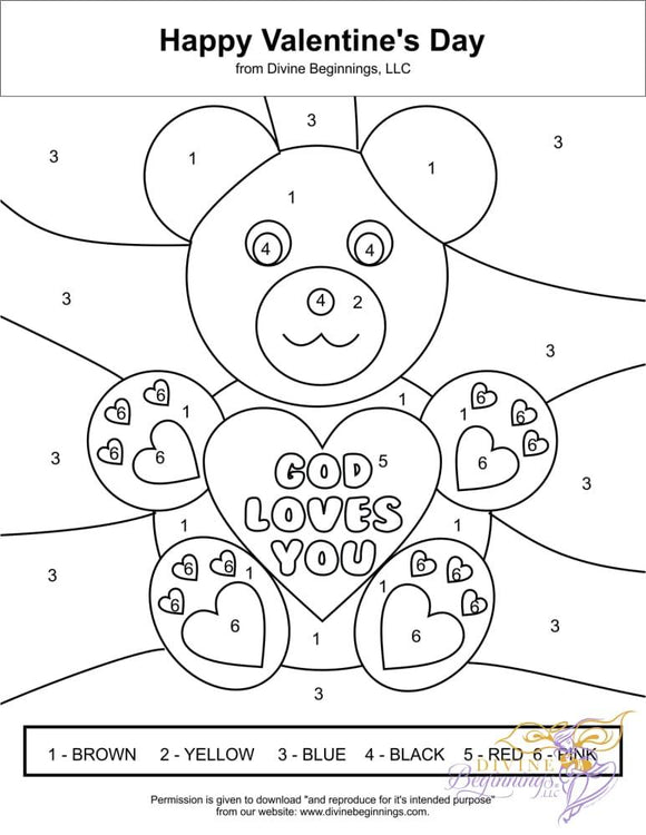 Valentine's Day Coloring Page - Divine Beginnings, LLC
