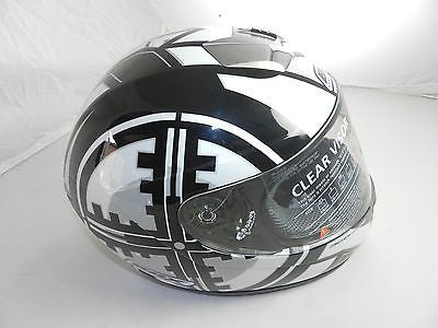 "Box BX-1 ""Skope/Black"" Full Face Motorcycle Helmet (size XL)"