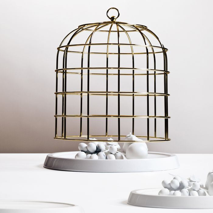 Twitable Gold Metal Birdcage