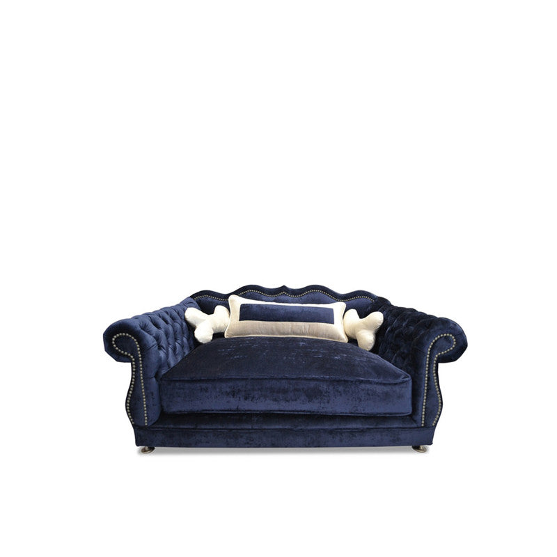 GIGI NAVY DOG BED