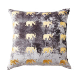 Meru Large Elephant Pillow Grey