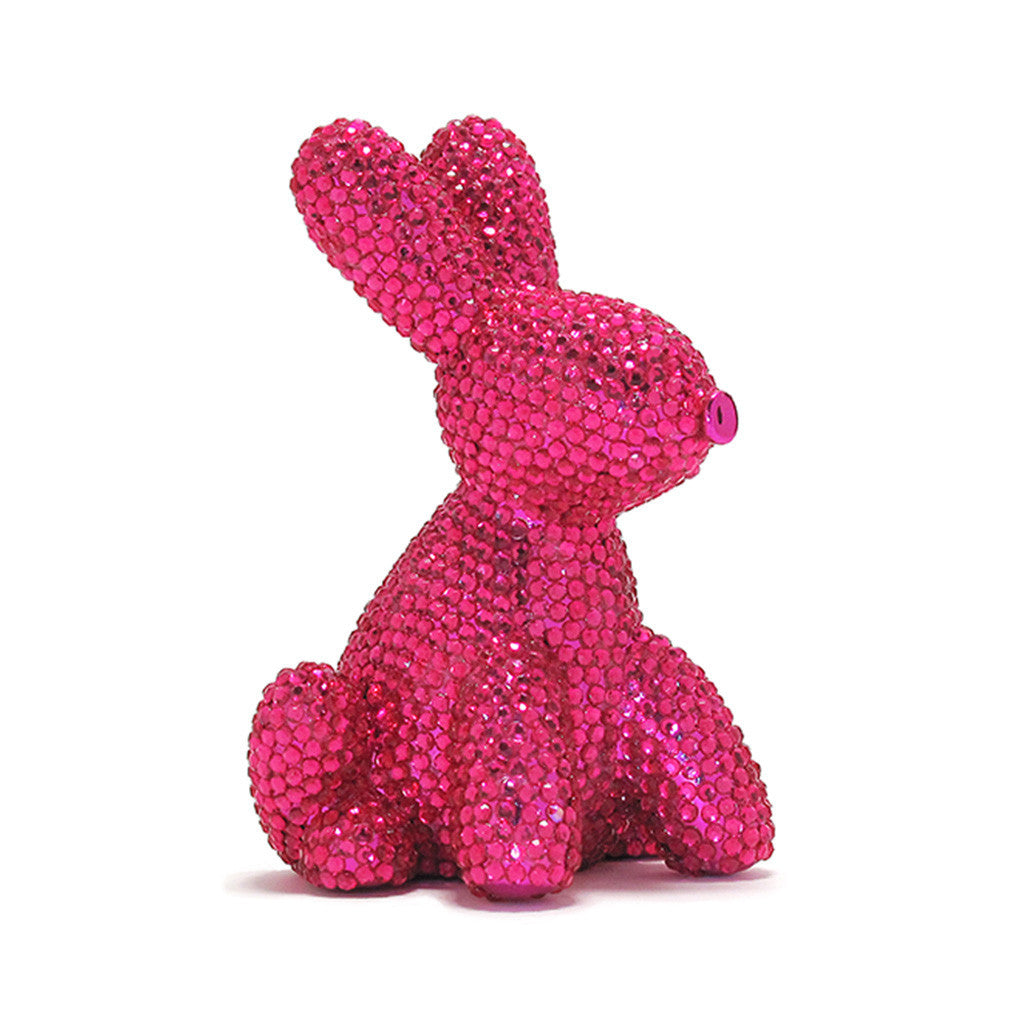 Pink Jeweled Bunny Bank