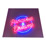 Pancakes and Dreams Custom Neon