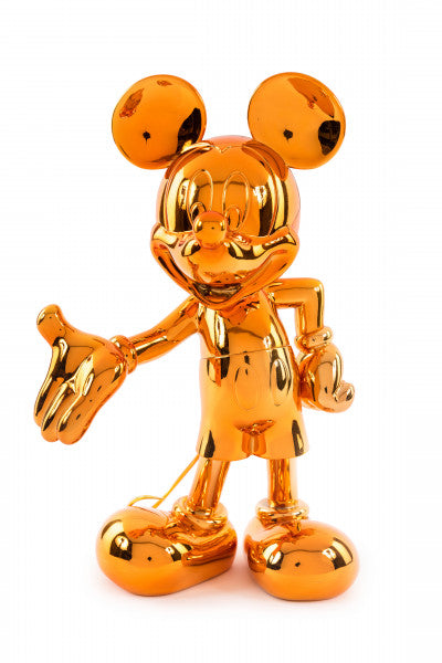 welcome mickey sculpture orange chrome