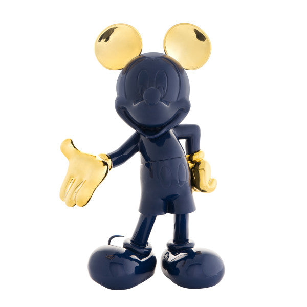 navy and gold mickey sculpture