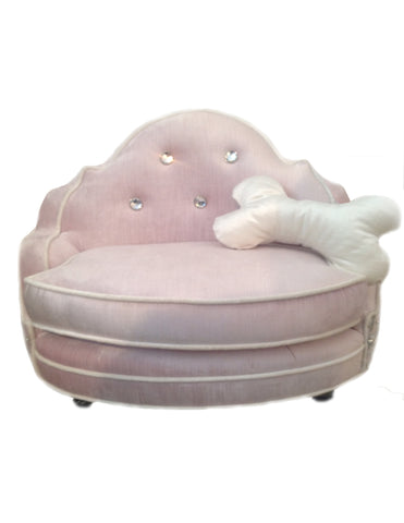 Pearl White Olga Doggie Bed
