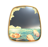 Seletti Sea Girl Gold Frame Mirror