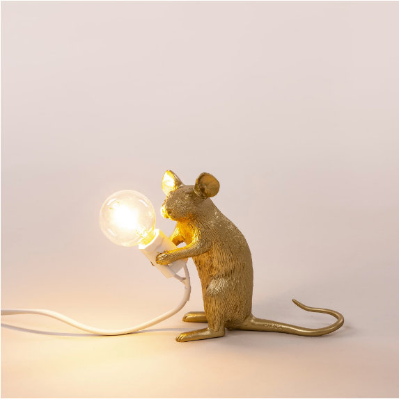 Gold Mouse Lamp Mac
