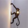 Wall Hanging Monkey Lamp Black Right Version