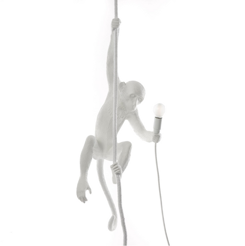Ceiling Monkey Lamp OUTDOOR Version White