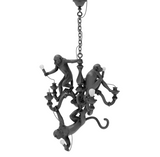 Monkey Chandelier Black