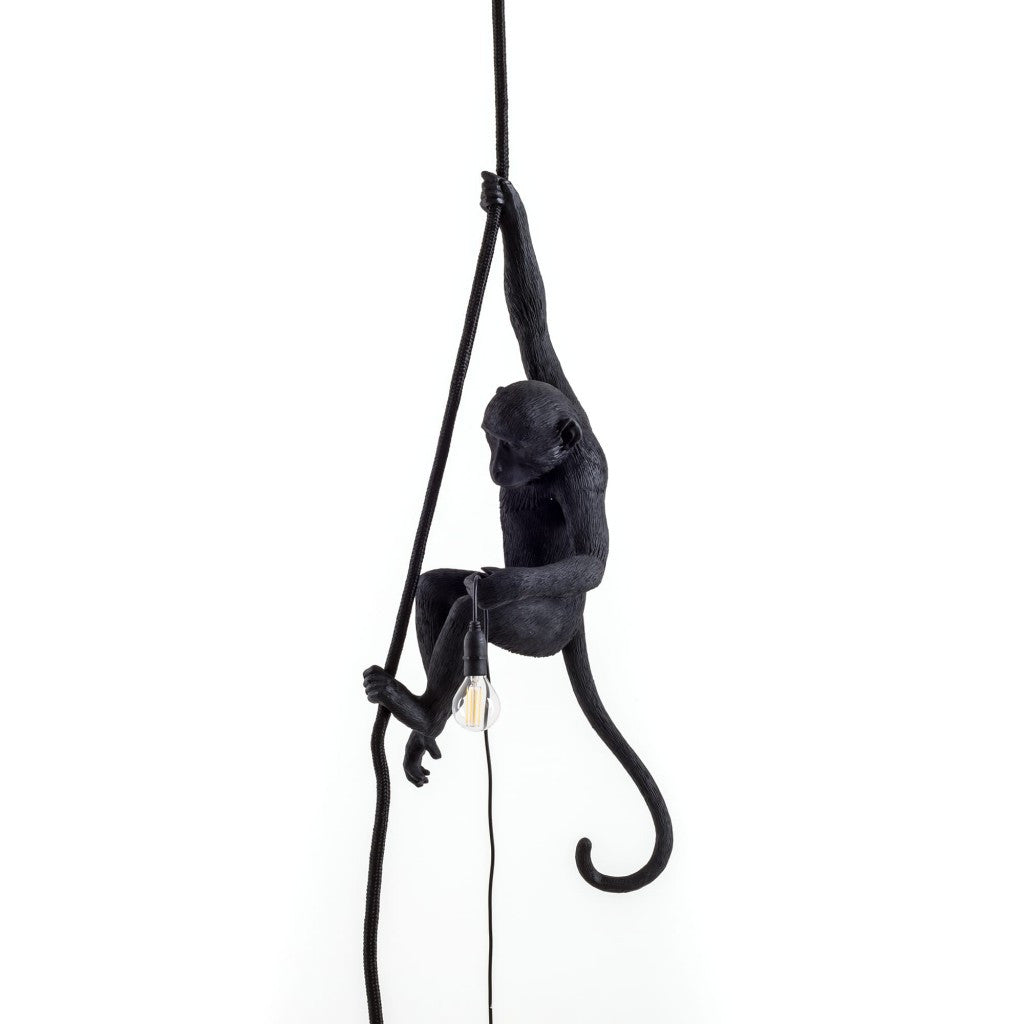 Black Rope Monkey Lamp