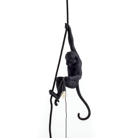 Black Standing Monkey Lamp