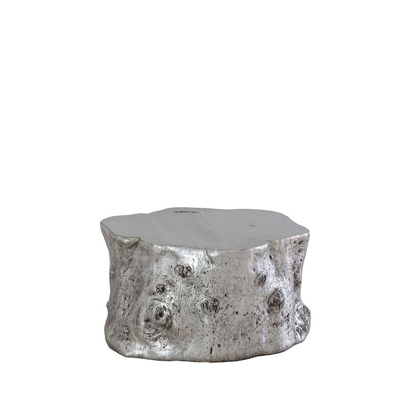 Log Cocktail Table Silver