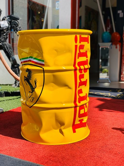 Yellow Ferrari Barrel, 2020