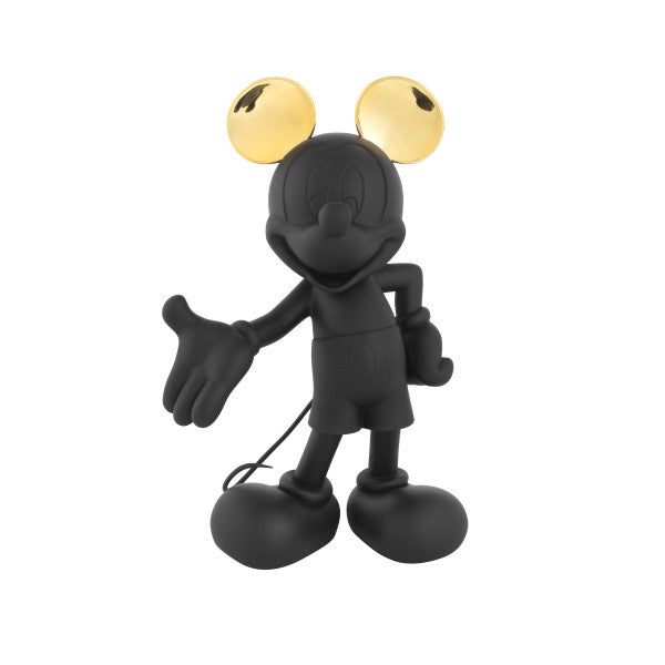 black and gold mickey sculpture
