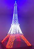 Eiffel Tower Neon Floor Sculpture