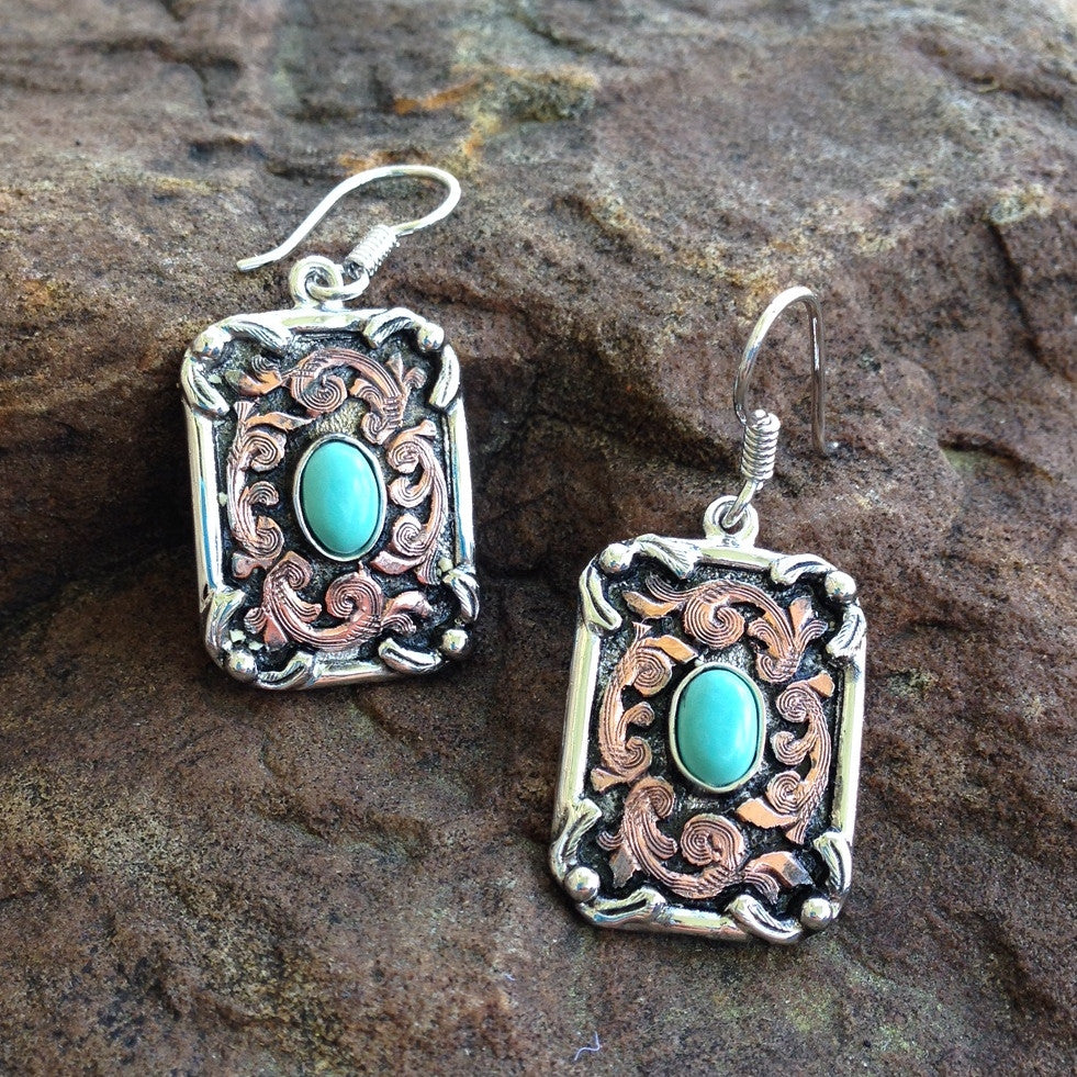 J. Antique Turquoise Earrings