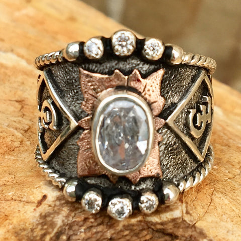W. Custom Silver & Copper Ring