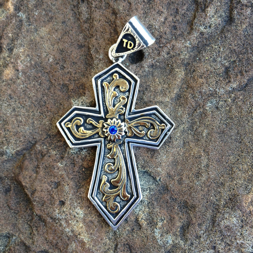 Antique Silver Cross Pendent