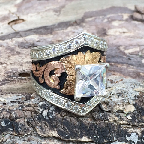 J. Diamond Shape Venture Ring