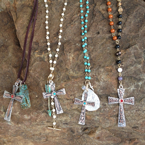 Love Faith Hope Truth Cross Necklace