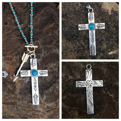 Reversible Cross Pendent & Necklace
