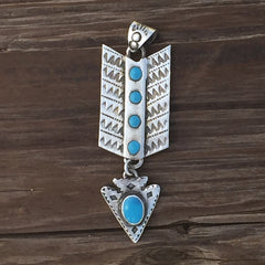 Arrow Drop Turquoise Necklace Pendent