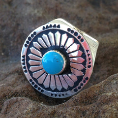 Y. Silver Indian Ring