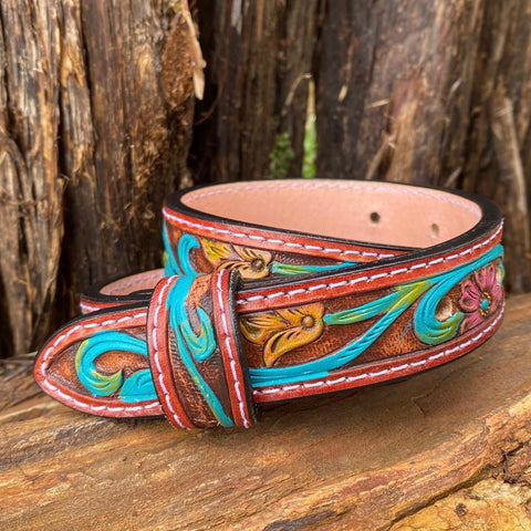 Leather Custom Baby/Kids Tooled Belt