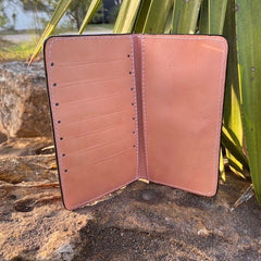 Leather Wallet/Check Book Cover