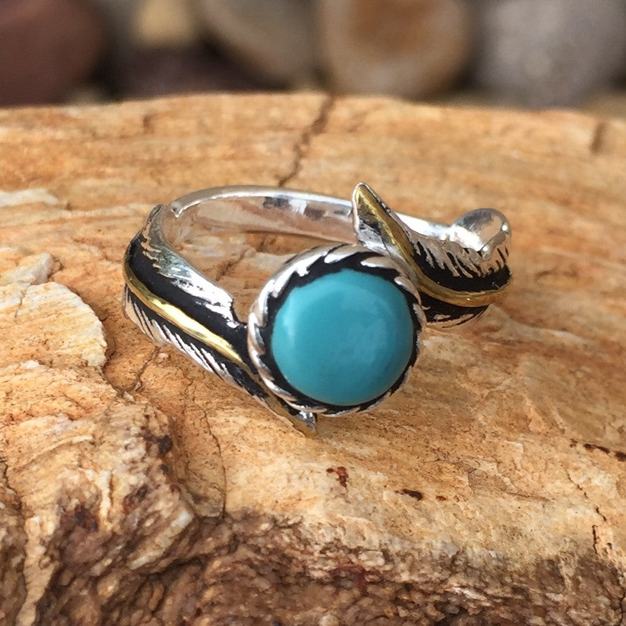 C. Feather Royal Turquoise Ring