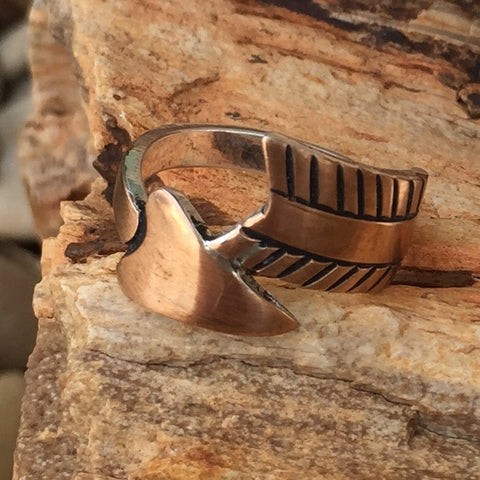 Ac. Wrap Around Arrow Ring Copper